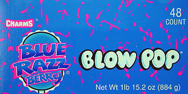 Charms Blow Pop Blue Razz Berry 48CT